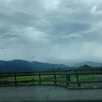 Photo taken at 岩瀬橋 by aqua on 8/25/2015