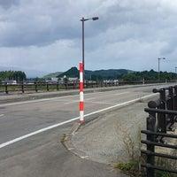 Photo taken at 岩瀬橋 by aqua on 9/18/2014