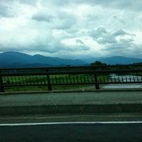 Photo taken at 岩瀬橋 by aqua on 8/17/2015