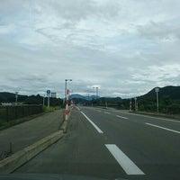 Photo taken at 岩瀬橋 by aqua on 9/7/2015