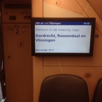 Photo taken at Intercity Rotterdam Centraal - Vlissingen by Dineke v. on 5/9/2014