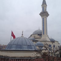 Photo taken at Bahcesehir Camii by Onur T. on 1/31/2014