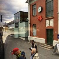 Photo taken at Elverum stasjon by Anca T. on 10/8/2016