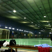 Photo taken at Galaxy Futsal Bangi by Ashman A. on 2/23/2013