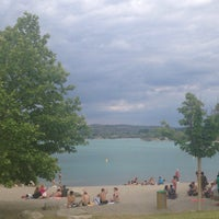 Photo taken at Lac de Peyrolles by Olga R. on 5/24/2015