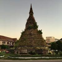 Photo taken at That Dam Stupa by EVA T. on 11/27/2016