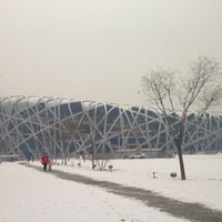 Photo taken at National Stadium (Bird's Nest) by Sherwin S. on 1/20/2013
