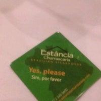 Photo taken at Estancia Churrascaria Brazilian Steakhouse by Louis S. on 6/15/2013
