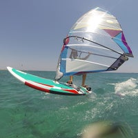 Photo taken at Club Mistral Windsurf Center by Alexander S. on 8/8/2013