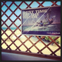 Photo taken at Club Mistral Windsurf Center by Alexander S. on 7/31/2013