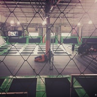 Photo taken at Jump Mania by Gustavo L. on 3/20/2015