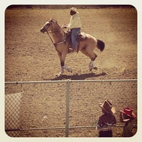 Photo taken at Rowell Ranch Rodeo Park by Kyiakhalid R. on 7/14/2013