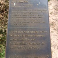 """Photo taken at Stele """"Knud Ahlborn"""" by Tourismus-Service K. on 4/22/2014"""