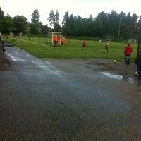 Photo taken at Puotilan urheilukenttä by Riina K. on 6/16/2013