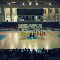 Photo taken at Complexo Municipal dos Desportos by Jorge A. on 1/25/2014