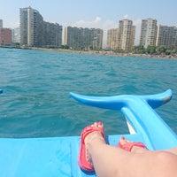 Photo taken at Flamingo 8 Plajı by Özge F. on 8/20/2018