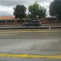 Photo taken at TransMilenio: Escuela Militar by Carolina B. on 12/15/2013