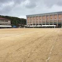 Photo taken at 石田小中学校 グラウンド by Taju Y. on 4/29/2014