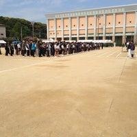 Photo taken at 石田小中学校 グラウンド by Taju Y. on 4/29/2013