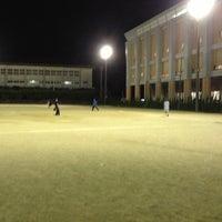 Photo taken at 石田小中学校 グラウンド by Taju Y. on 9/27/2012
