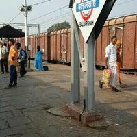 Photo taken at Balharshah Railway Station by Vishwas P. on 11/24/2017