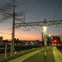 Photo taken at Senjuōhashi Station (KS05) by petsounds on 11/3/2012