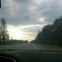 Photo taken at Трасса Е95 by Виктория М. on 4/18/2014