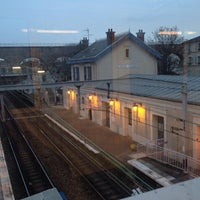 Photo taken at RER Arcueil – Cachan [B] by Matt B. on 1/24/2014