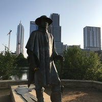 Photo taken at Stevie Ray Vaughan Statue by Bryan F. on 5/28/2017