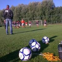Photo taken at Voetbalvereniging DVV by Ronald v. on 9/28/2013