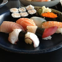Photo taken at Ajisai Sushi Bar by Kay Y. on 2/8/2013