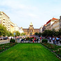 Photo taken at Wenceslas Square by Shaheen A. on 6/15/2012
