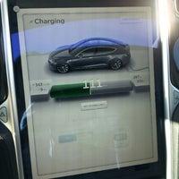 Photo taken at Tesla Supercharger by Lauren on 3/13/2014