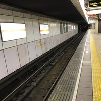 Photo taken at Midosuji Line Daikokucho Station (M21) by 近藤 嘉. on 1/30/2017
