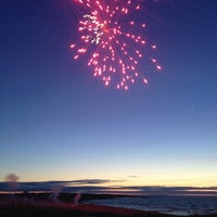 Photo taken at Hudson Bay Beach by Seulki on 7/2/2013