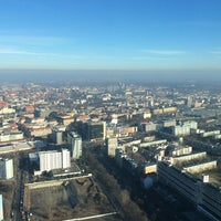 Photo taken at Punkt Widokowy Sky Tower by Pawel K. on 1/18/2014