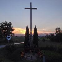 Photo taken at Krzyż w Grocholicach by Pawel K. on 7/4/2013