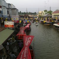 Photo taken at Amphawa Floating Market by owaandmay c. on 4/7/2013