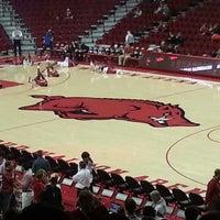 Photo taken at Bud Walton Arena by Aaron M. on 1/12/2013