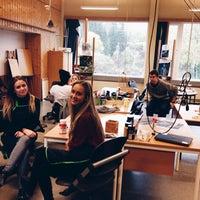 Photo taken at Mysen Videregående by Amanda B. on 10/17/2014