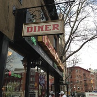 Photo taken at Washington Square Diner by Joey L. on 4/17/2013