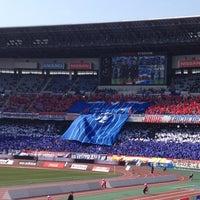 Photo taken at Nissan Stadium by saka h. on 3/2/2013