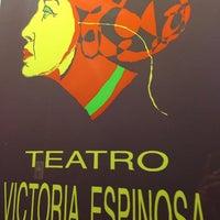 Photo taken at Teatro Victoria Espinosa by Carlitos M. on 1/24/2014
