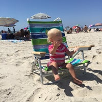 Photo taken at Civic Beach (Point Lookout) by Amy T. on 9/7/2015