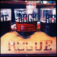 Photo taken at Rogue Ales Brewer's on the Bay by Jill on 4/9/2013