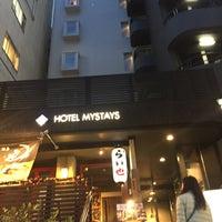 Photo taken at Hotel Mystays Shinsaibashi by Ying S on 4/30/2016
