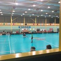 Photo taken at Lielvardes Sporta Halle by Sabīne B. on 11/11/2017