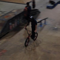 Photo taken at Four Seasons Skate Park by Jim A. on 1/16/2014