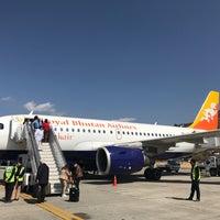 Photo taken at Paro International Airport (PBH) by Elaine Y. on 3/6/2017