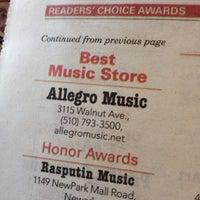 Photo taken at Allegro Music by Napoleon B. on 4/25/2015